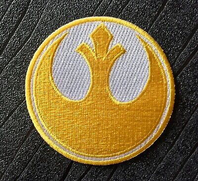 Star Wars Rebel Alliance Gold Squadron Embroidered Iron on Patch (75mm)