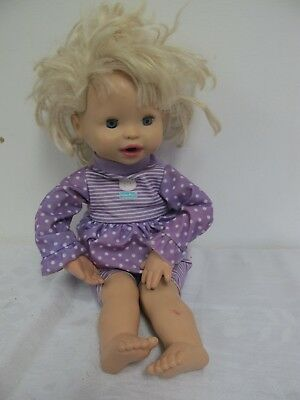 Fisher Price My Very Real Baby  Little Mommy Mattel Doll 2010 Interactive