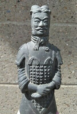Vintage Chinese Terracotta Army Soldier Warrior Clay Statue Figurine L92S