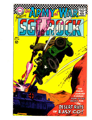 OUR ARMY AT WAR #182 in VF+ a 1967 DC WAR comic SGT ROCK with NEAL ADAMS art
