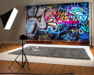 Street Graffiti Hiphop Photography Background Backdrop Studio Video Photo Props