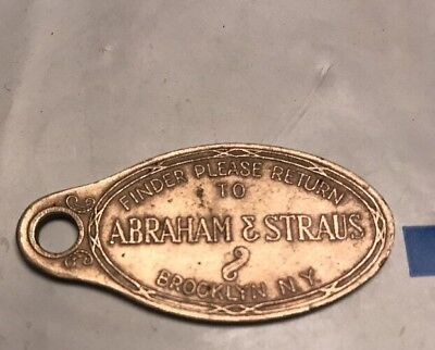 Vintage A&s Abraham & Straus Department Store Credit Card Metal Coin Antique