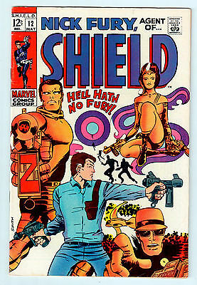 NICK FURY AGENT OF SHIELD #12 in VF condition from MARVEL comics 1969 Silver Age
