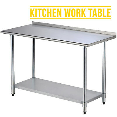 2FT×5FT Stainless Steel Kitchen Restaurant  Food Work Prep Table with Backsplash