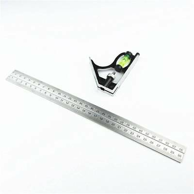 Adjustable Combination Level Square Angle Metric Rulers Gauge Measuring Tools