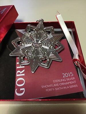2015  Sterling Silver Snowflake Ornament by Gorham