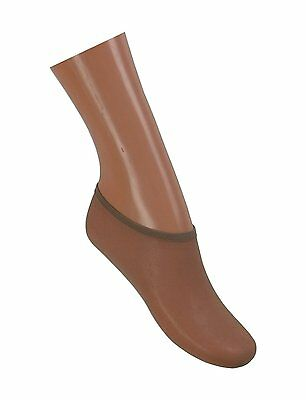6 Pairs 40 Denier Footsocks / Shoe Liners - One Size - Natural Shade