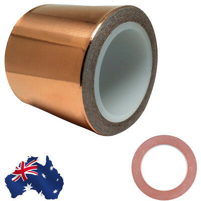 AU!! 50mm x20M Copper Foil Tape EMI Shielding Electric Guitar Slug Snail Barrier