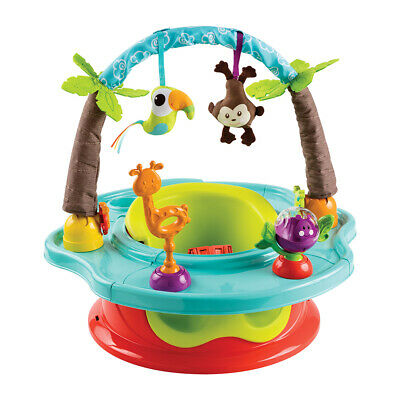 Summer Infant Super Deluxe Booster Feeding Activity Play Seat Wild Safari