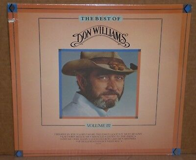 The Best Of Don Williams Volume III 3 SEALED LP vinyl record NEW cut out