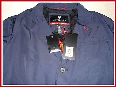 MSRP $295.00 ! VICTORINOX Swiss Army Travel Blazer II Jacket Navy Color Size:44