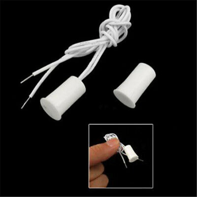 5Pcs Recessed Magnetic Window Door Contacts Alarm Security Reed Switch Magnetic