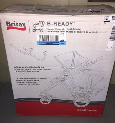 NEW 2015 Rare Britax B-Ready Lower Second Car Seat Adapter Discontinued S842400