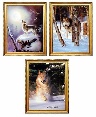 Prayer of Life Wolves in Snow Howling at Moon Wall Picture 8x10 Art Print