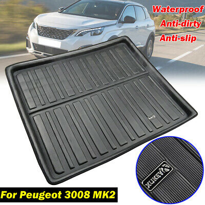 Tailored Boot Liner Rear Trunk Mat Floor Cargo Tray For Peugeot 3008 2017 2018