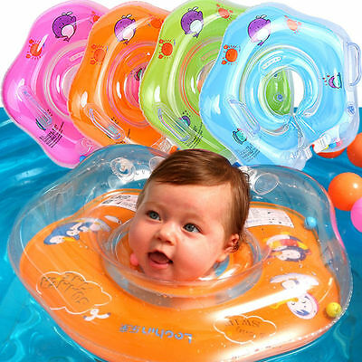 Baby Swim Ring Inflatable Toddler Neck Float Swimming Ring Pool Infant Kid UK