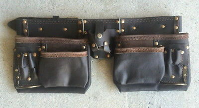 TOOL belt real full grain leather workmans TOOL holder