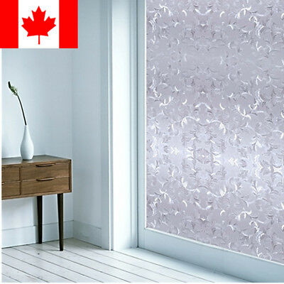 "PVC Frosted Glass Window Privacy Film Sticker For Bedroom Bathroom, 24"" X 79"""