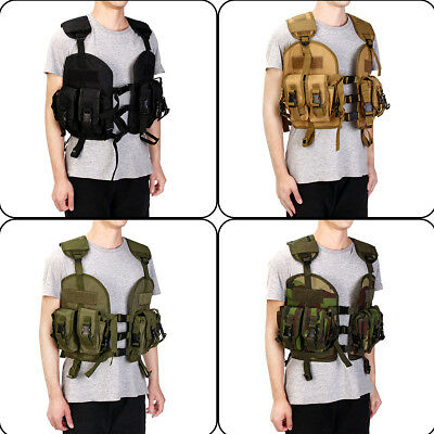 Military Airsoft Molle Tactical Vest Modular Paintball Pouch Combat Assault