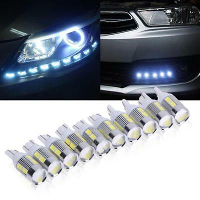 10 x Cool White 7000K T10 10SMD LED Bulbs Car Interior Light W5W 192 194 168 12V