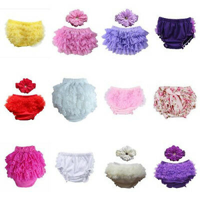 Stylish Lace Ruffle Bloomers Leopard Bowknot Nappy Cover Shorts For Baby Girls