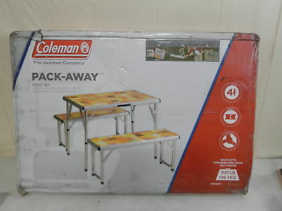 COLEMAN PACK-AWAY Outdoor 4-In-1 Mosaic Table - $83.87 | PicClick