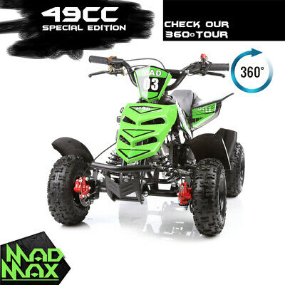 2018 Green 49cc Mini Atv Quad Bike Kids 4 Wheeler Dirt Buggy Pocket Bike Pickup