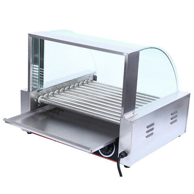 Commercial Hot Dog Grill Cooker Warmer 8 Roller 24 Hotdog Grill Machine CE