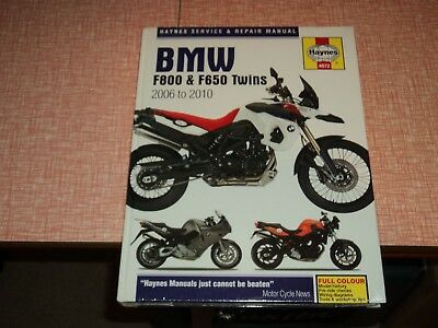 Haynes BMW F800 & F650 Twins 2006 to 2010   Workshop Manual  New