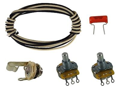 Precision / P bass premium wiring upgrade kit CTS, Switchcraft, solid shaft
