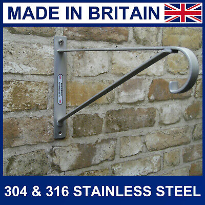 "12"" Stainless Steel Hanging Basket Bracket strong for up to 14"" Diameter Baskets"