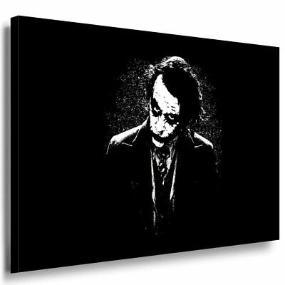 Batman Joker Heath Ledger Leinwand Ak Art Bilder Kunstdruck Schwarz Kunstdruck