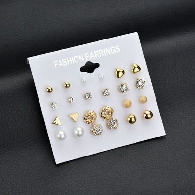 Wholesale A Set Of 12 Pairs Multi-Style Earrings Ear Stud Allergy Free UK