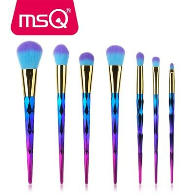 MSQ Unicorn Kabuki Makeup Brushes Set Cosmetic Tool Foundation Powder Blending