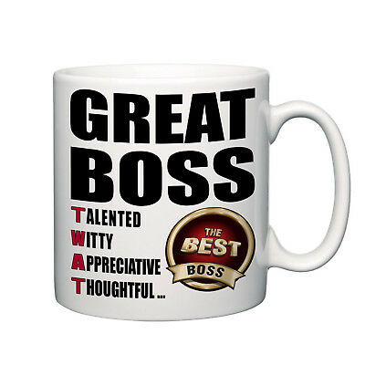 Great boss TWAT novelty mug tea coffee home best boss manager office funny gift