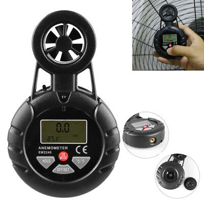 Digital Anemometer Thermometer Wind Speed Temp Air Flow Velocity Measure Meter