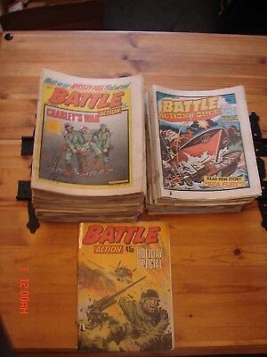 60 battle comics/36 battle action force from early to mid 80's used read cond