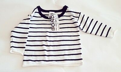 Bonds Baby Light Jumper 0-3 Months 000 Babies Jumper New with Tags Soft Stripes