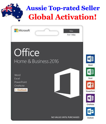 *INSTANT DELIVERY 24/7* Microsoft Office Home and Business 2016 for APPLE MAC