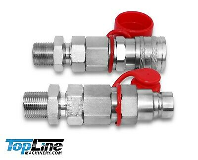 """TL26 5/8"""" ORFS Flat Face 1/2 Hydraulic Quick Connect Coupler Bulkhead Skid Steer"""