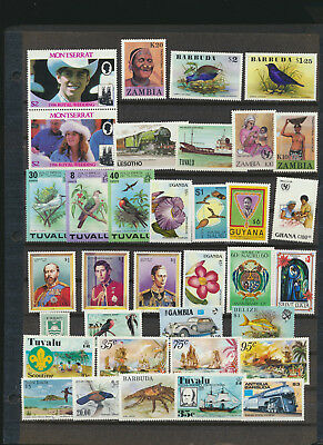 British Mint NH Stamp Collection 35 Diff High Retail Value Great Topics LOT 926