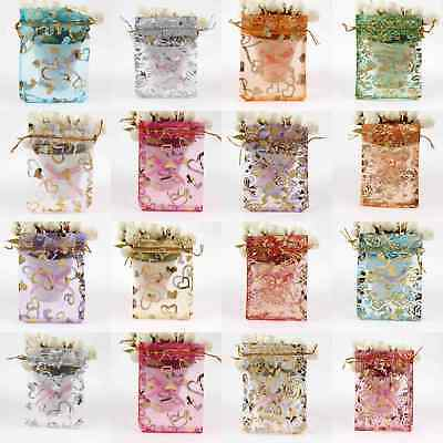 100 Organza Gift Bag Drawstring Jewelry Candy Pouches Wedding Packing Favour