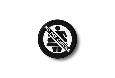 Patch badge insigne ecusson brode imprime thermocollant not fat chicks biker