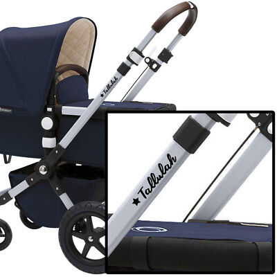 Personalised Pushchair Stickers Name + Star on Baby Pram Buggy Stroller Bugaboo