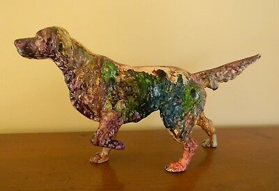 Vintage Cast Iron Setter Pointer Hunting Dog Door Stop Hubley?