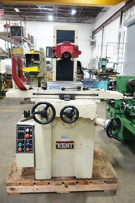 "Kent 6"" x 14"" 3 Axis Manual Surface Grinder/with Vacuum and Coolant Pump"