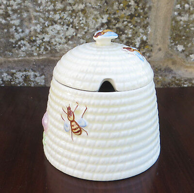 Vintage Beswick Bee Hive Honey Pot / Preserve Jar Made in England - Shape 1819