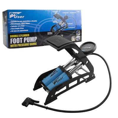 Pro User Double Cylinder Foot Pump With Pressure Gauge