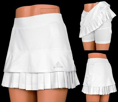 Adidas Premium Skort Damen Tennis Rock Short Tight Hosenrock Laufrock Women weiß