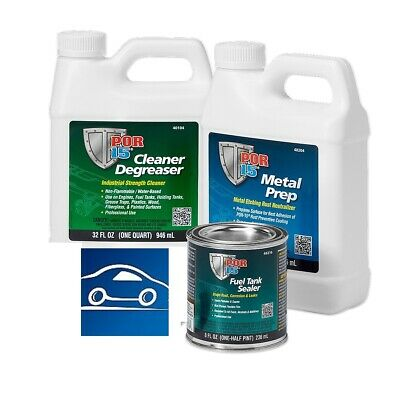 POR15 Motorcycle Fuel Bike Tank Repair Sealer Kit - Up to 4.5 Gallon Approx 17 L